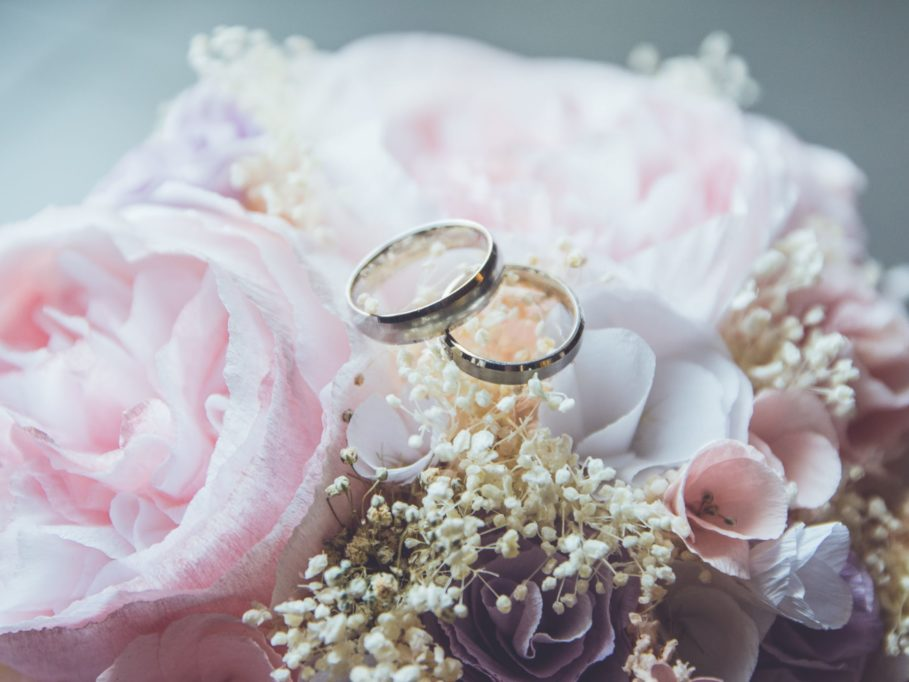 Picture-Perfect Wedding Venue Bouquet and Rings